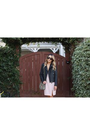 Chloe bag - Nordstrom boots - light pink ASTR dress - Dezzal jacket