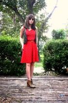 metalic Zara vest - silk Anthropologies dress - leopard suede shoemint wedges