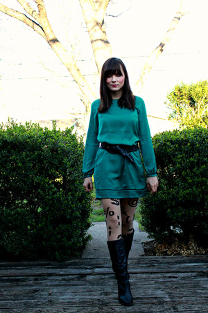 typewriter American Apparel tights - the loft dress