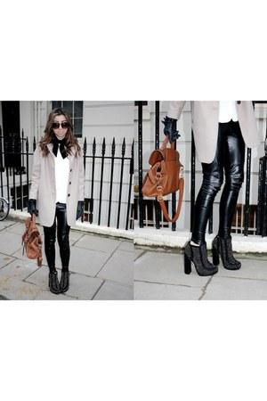 studded boots Topshop Boutique boots - camel coat Topshop coat