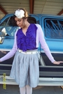 Purple-ross-sweater-purple-walmart-top-silver-old-navy-skirt-white-belt-