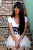 ivory She Inside skirt - white Lez a Lez shirt