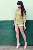 chartreuse chiffon Tomany blouse