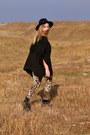 Zara-hat-bsb-leggings-stradivarius-cardigan-h-m-top