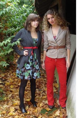 Only blazer - Bershka pants - H&M top - Only dress - unknown vest - unknown belt
