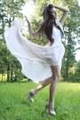 Eggshell-platforms-deezee-shoes-neutral-chiffon-handmade-skirt