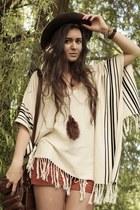 second hand hat - romwe bag - handmade shorts - H&M socks - Primark wedges - H&M