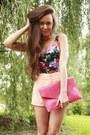 Black-second-hand-swimwear-salmon-ohmyfrock-jacket-hot-pink-clutch-romwe-bag