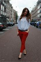 Zara jeans - Monki shirt - asos heels