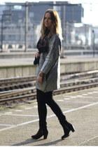 silver H&M Trend cardigan - Topshop boots - Levis jeans