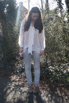 Topshop shoes - Zara jeans - H&M blouse