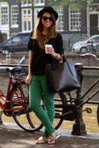 Zara pants - Zara bag - Zara necklace - Zara sandals - Zara top