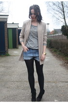 Mango sweater - Newlook blazer - denim Levis shorts