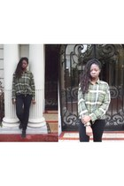 bronze Ebay ring - green diy plaid shirt unknown brand shirt