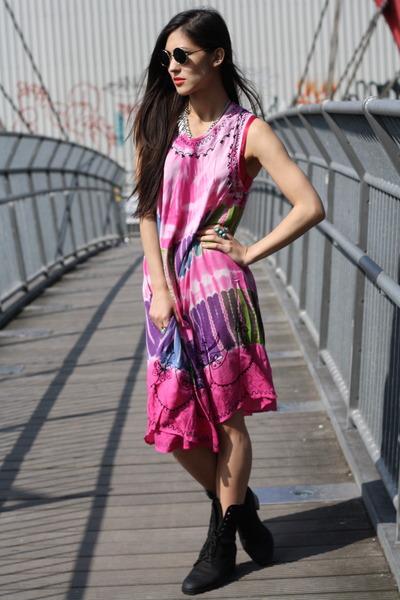 hot pink Bird on a wire dress