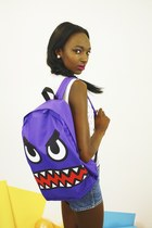 Monster Face Canvas Rucksack