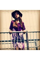 purple tie dye Bird on a wire dress