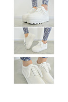 White Platform Plimsoles