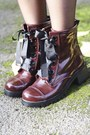 Burgundy-boots-bird-on-a-wire-boots