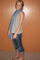 boyfriends closet shirt - merona scarf - Silver jeans - Montego bay club shoes