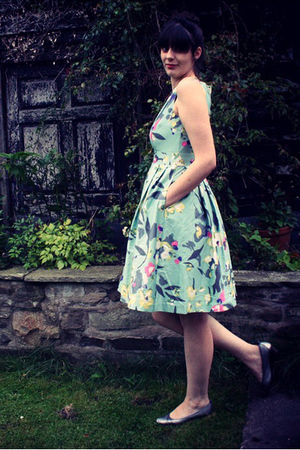 green H&M dress - silver Topshop shoes