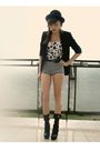 Black-topshop-blazer-black-bigstar-shoes-silver-m-s-allegro-shorts-white-d