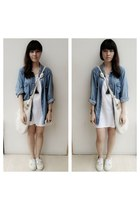 shirt - knitting bag - vest - school sneakers sneakers