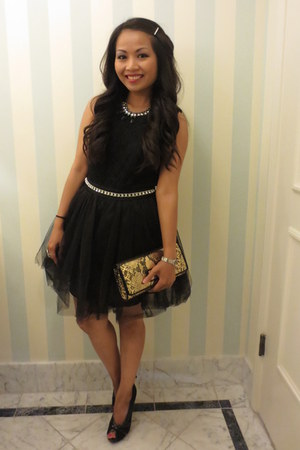 black lace  tulle Forever 21 dress