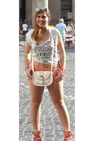 bracelet - bracelet - wedge inside shoes - Tally Weijl shorts