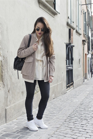 H&M jacket - H&M blazer - H&M shirt - Rebecca Minkoff bag - ray-ban sunglasses