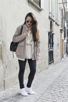 H&M jacket - H&M blazer - H&M shirt - Rebecca Minkoff bag - ray-ban sunglasses