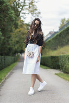 H&M bag - Converse shoes - Miu Miu sunglasses - Zara skirt