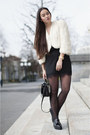 Black-platforms-mango-shoes-white-bolero-la-robe-de-mes-rêves-jacket