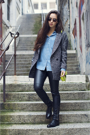derby Esprit shoes - Esprit coat - denim Esprit shirt - Police sunglasses