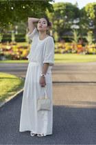 La halle shoes - vintage bag - crop H&M top - Zara skirt - Sismeek watch