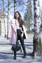 tan sud express jacket - black La Redoute boots - bubble gum River Island coat
