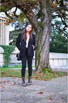 H&M coat - zalando boots - H&M jeans