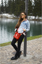 red satchel 31 Phillip Lim bag - black platforms Mango shoes