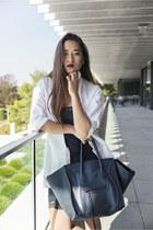 Zara shoes - Zara dress - Mango shirt - Celine bag