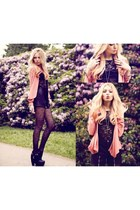 Shoppun blazer - Black Milk Clothing shirt - Primark tights - romwe shorts