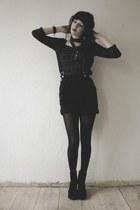 black vintage shorts