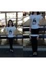 White-cotton-mango-shirt-black-cotton-topshop-pants