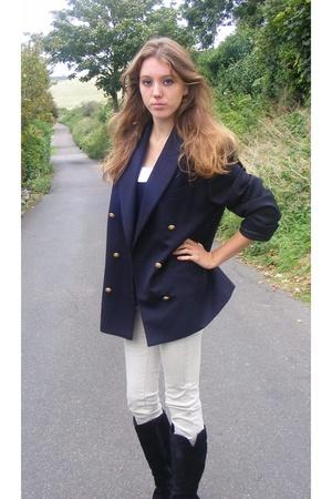 vintage oversized navy blazer