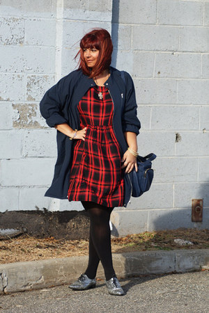 navy Umgee USA jacket - ruby red Old Navy dress