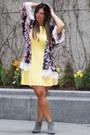 Charcoal-gray-sam-edelman-boots-light-yellow-new-york-co-dress