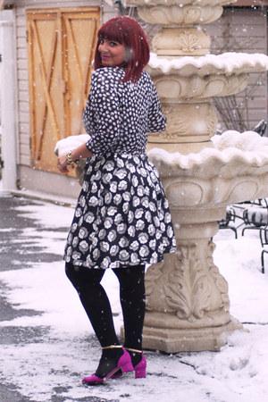 charcoal gray dvf dress - hot pink asos heels