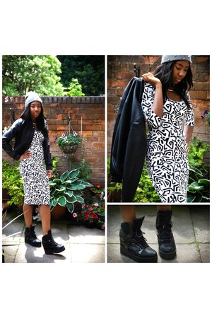 Jeffrey Campbell wedges - asos dress - Primark hat - new look jacket