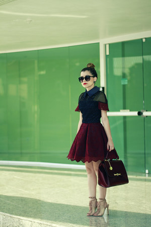 maroon Jones&Jones dress