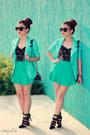 Aquamarine-blazer-aquamarine-skirt