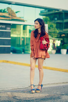 tawny blouse